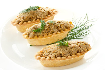 tartlets with paste