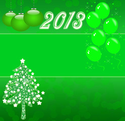 christmas tree ,happy new 2013 year