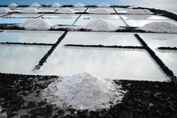Salt extraction plant at salinas  La Palma - Canary islands