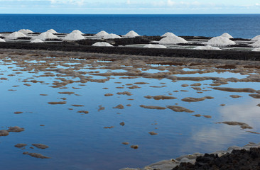 Salt extraction plant at salinas  La Palma - Canary islands