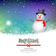 Merry Christmas Snowman Greeting card designs, vector