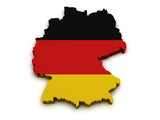 Germany Flag Map Shape