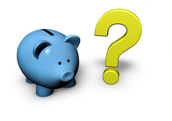 Piggy Bank Question Mark