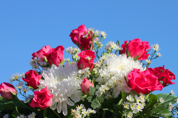 Colorful flowers decoration background