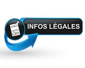infos légales sur bouton web design bleu