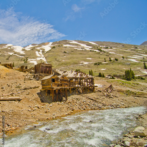 Preserved Houses in Animas Forks, a Ghost Town in the San Juan M