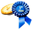 Winning badge with a pie
