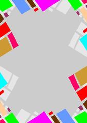 Color frame wallpaper