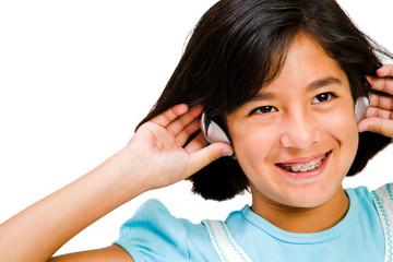 Danish girl listening music