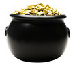 Pot of gold nuggets