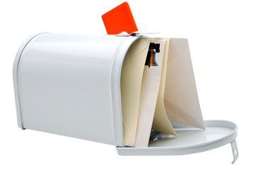 Close-up of envelopes in mailbox