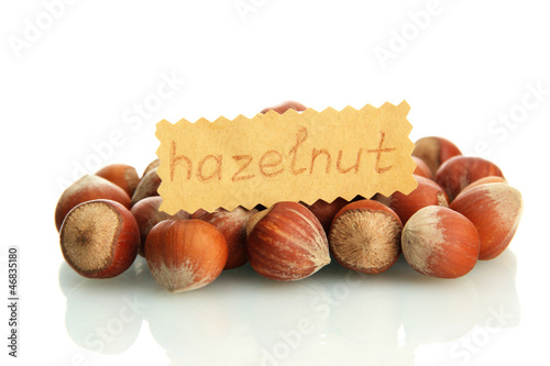 tasty  hazelnuts, isolated on white