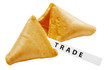 TRADE label with fortune cookie