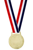 Close-up of winner medal