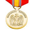 Metallic medal