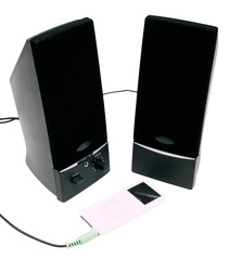 Speakers connected with MP3 player