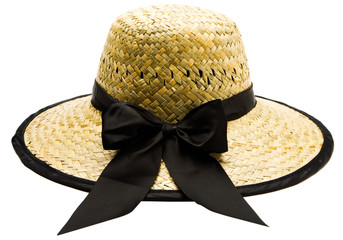 Close-up of straw hat