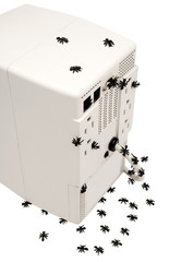 Ants around computer cpu
