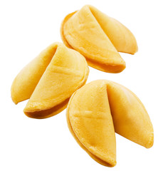 Three fortune cookies