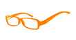 Eyeglasses of orange color