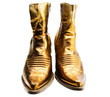 Boots of golden color