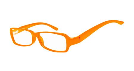 Eyeglasses of orange color