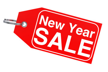 New Year sale tag