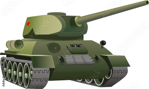 Fotobehang Militair Русский танк
