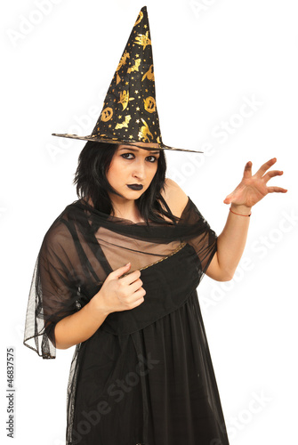 Bad witch showing hand