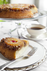 Pineapple Upside-Down Cake Being Served