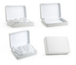 Set of White Box from various angles