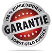 GARANTIE - 100% Zufriedenheit - sonst Geld zurück