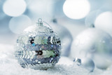 Cristmas decoration, Silver beautifful balls