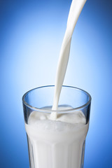 milk served in a glass