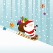 Santa On The Sledge
