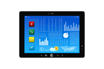 Tablette PC et Bourse