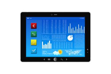 Tablette PC et Bourse