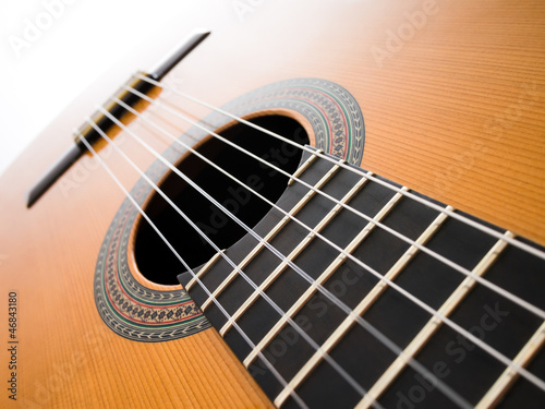 Acoustic guitar. Abstract background.