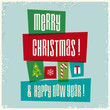 merry christmas and happy new year, holidays card