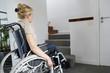 Portrait of senior woman in wheelchair