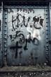 graffiti on steel
