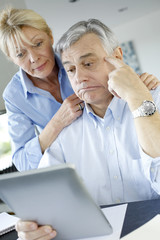 Senior couple trying to figure out tax declaration
