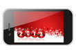 2013 new years illustration with mobile phone