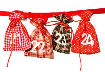 Geschenkesäckchen mit Zahlen