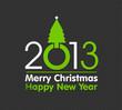 2013 christmas design made with christmas tree