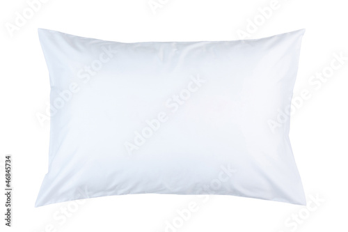 pillow with white pillow case on white background