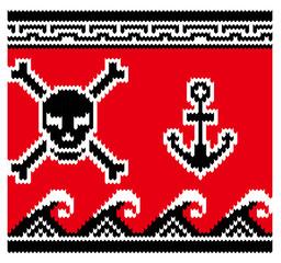 海賊ノルディック柄の連続模様