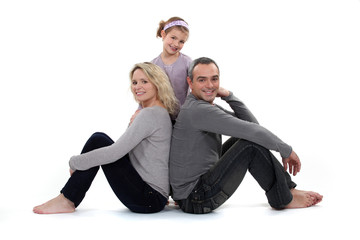 Parents and daughter