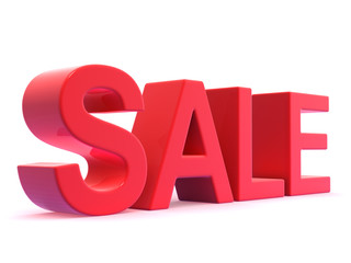 Red January Sale sign