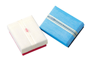 Beautiful gift box made of silk  for giving season